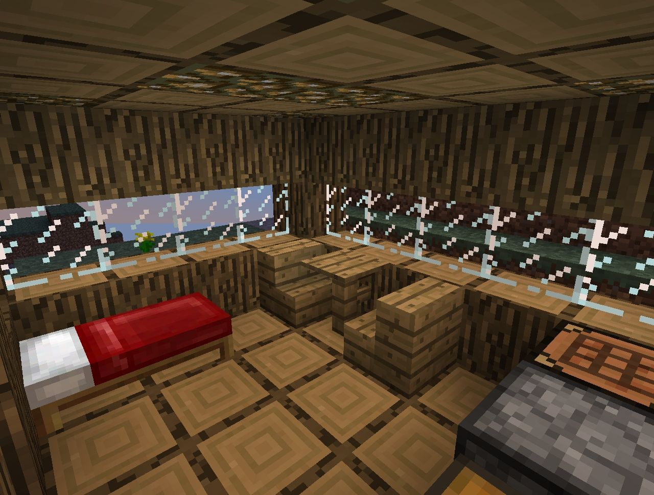 Mountain log cabin minecraft project for Log cabin project