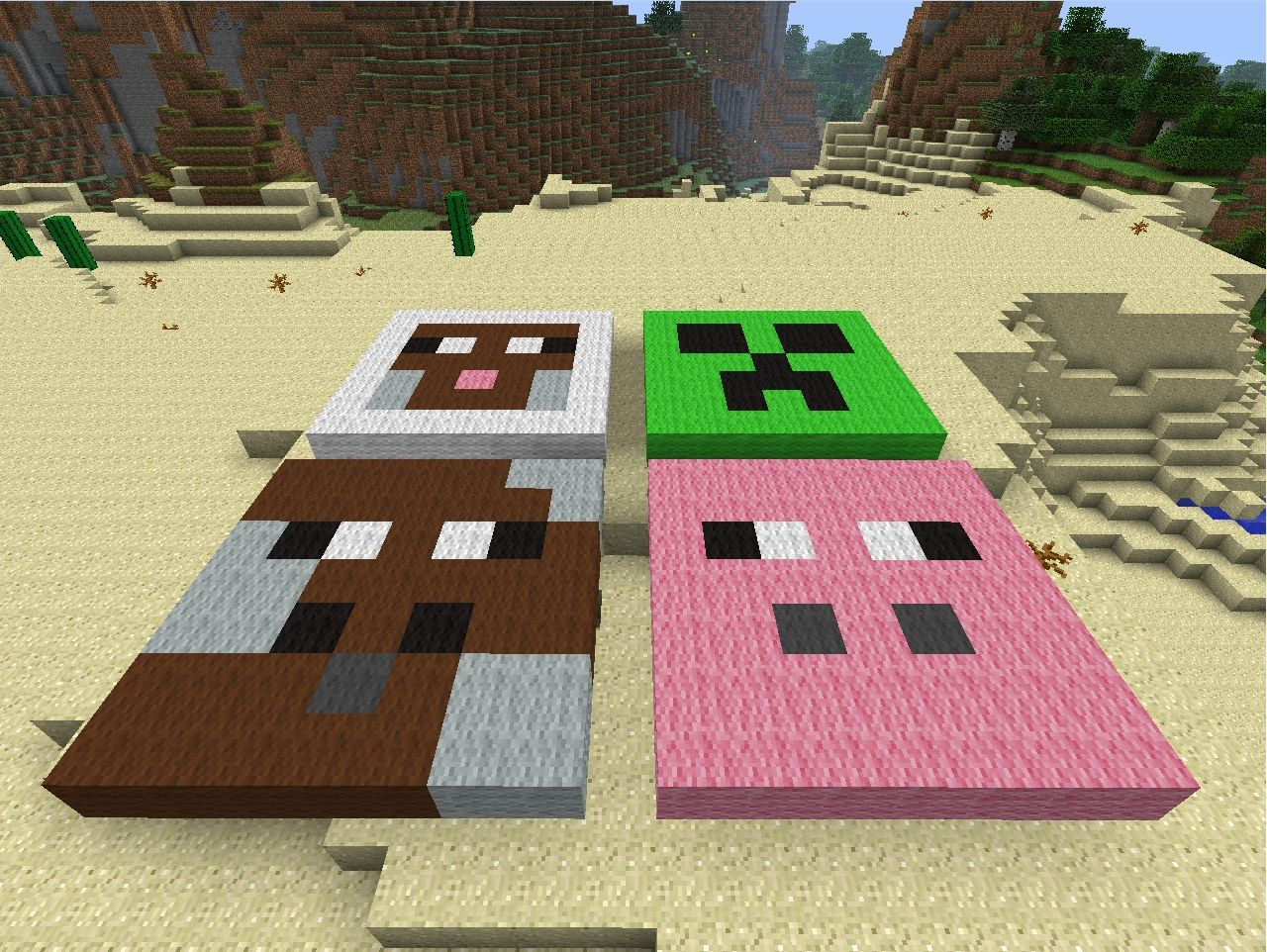 Mob Faces Minecraft Project