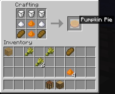 Pumpkin Cake Recipe Minecraft