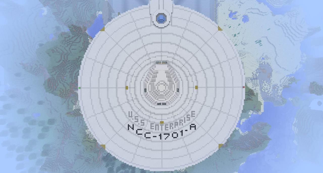 1 1 Scale Uss Enterprise 1701 A Refit Minecraft Project