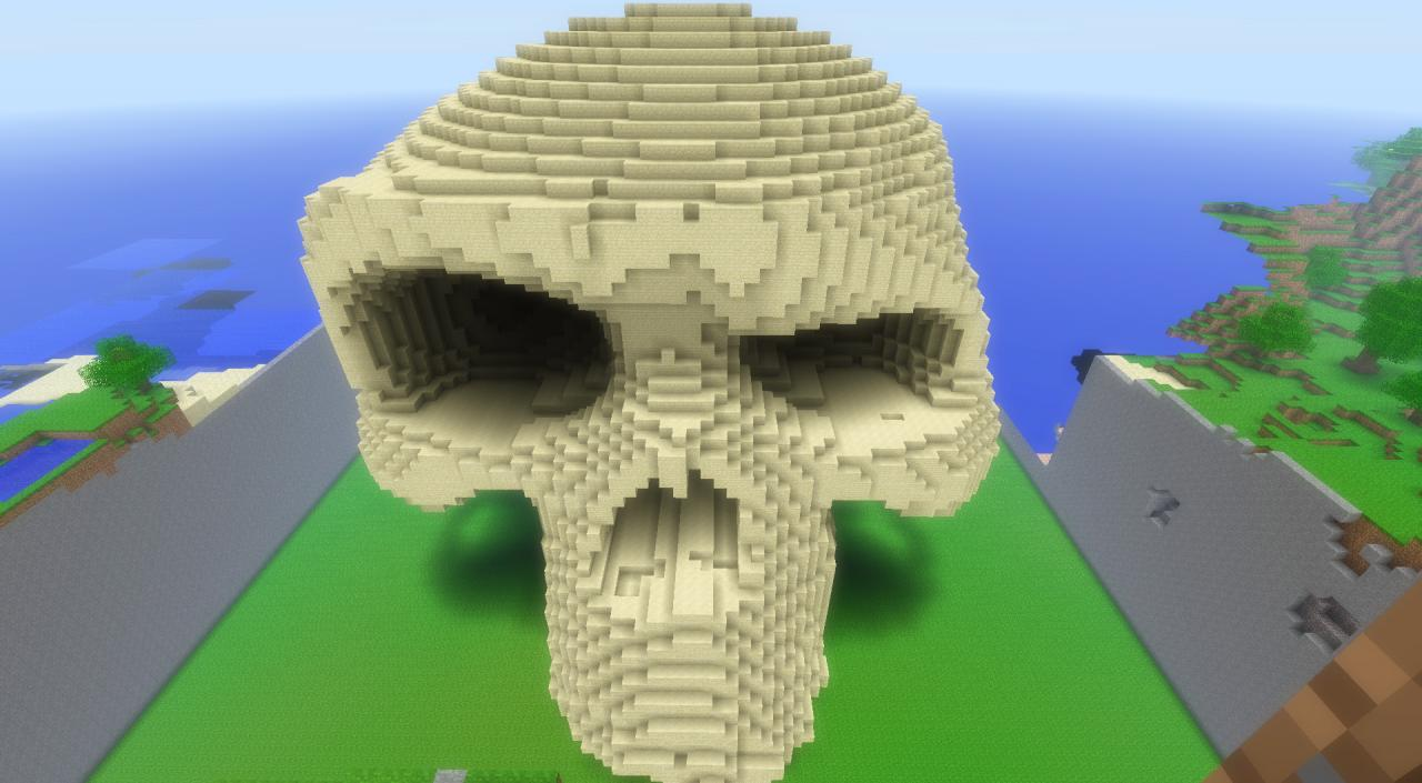 The obnoxious skull Minecraft Project