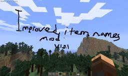Item names V1.8.1 Minecraft Mod