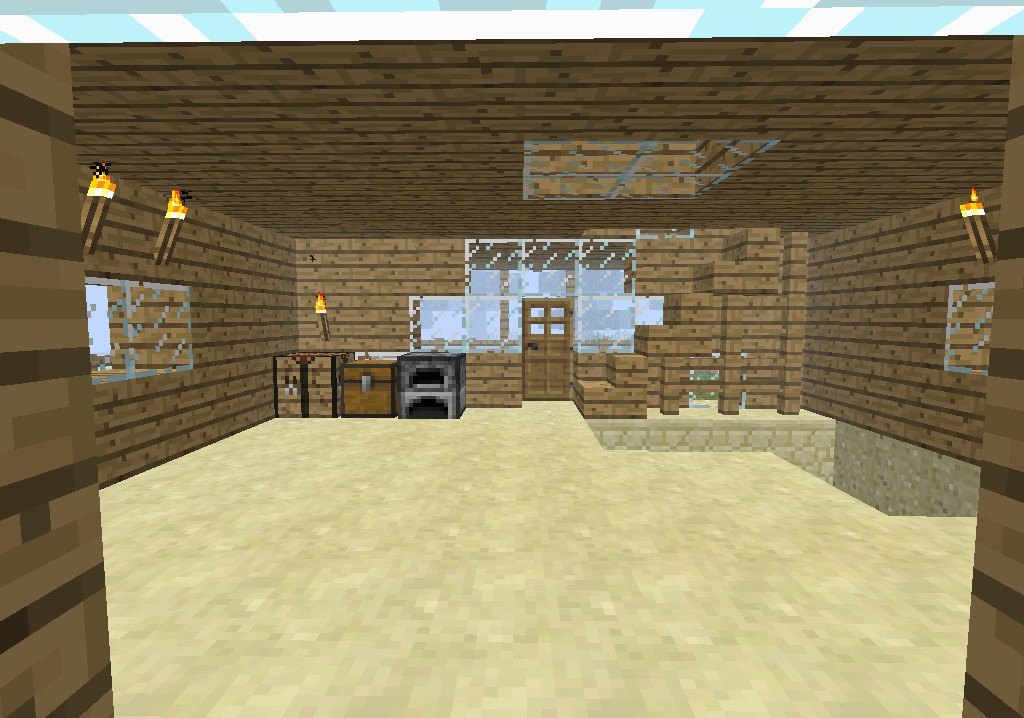 Two Story House With Balcony And Basement. Minecraft Map