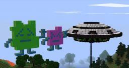 Aqua Teen Hunger Force Alien's & Ship Minecraft Map & Project