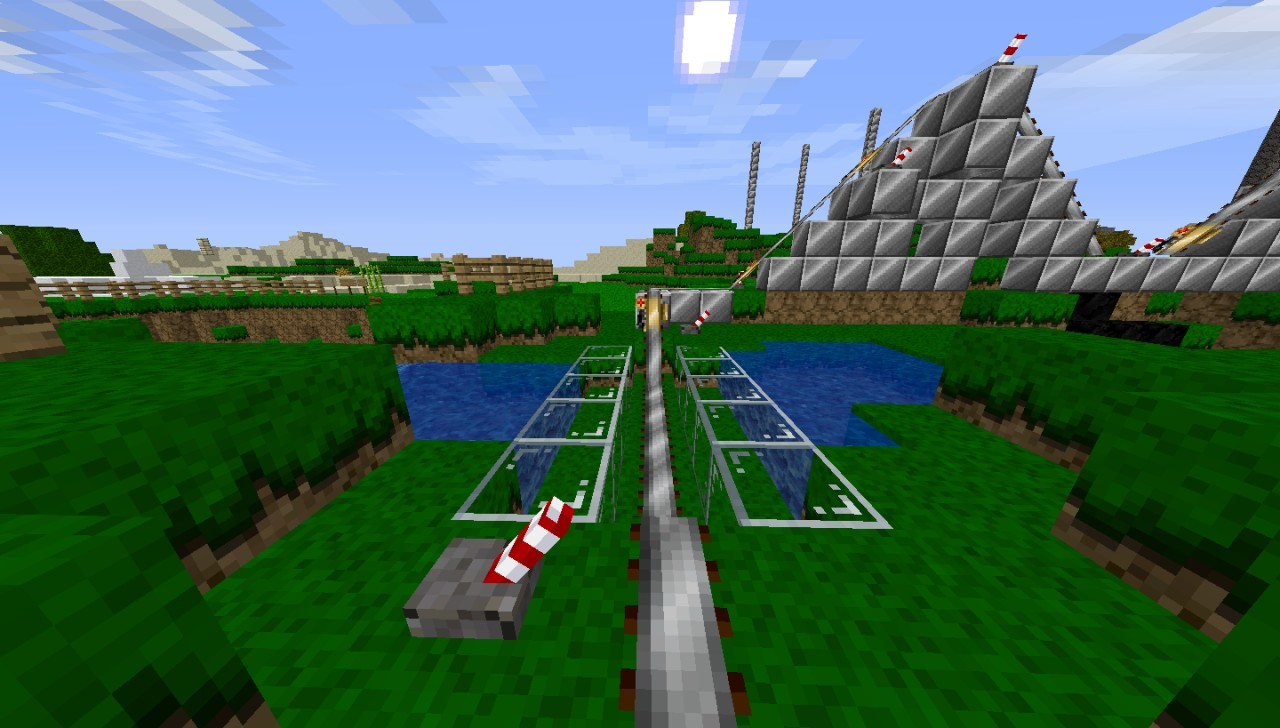 how to make roller coaster minecraft