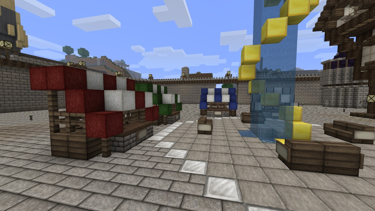 How To Build A Market Stand Minecraft Project