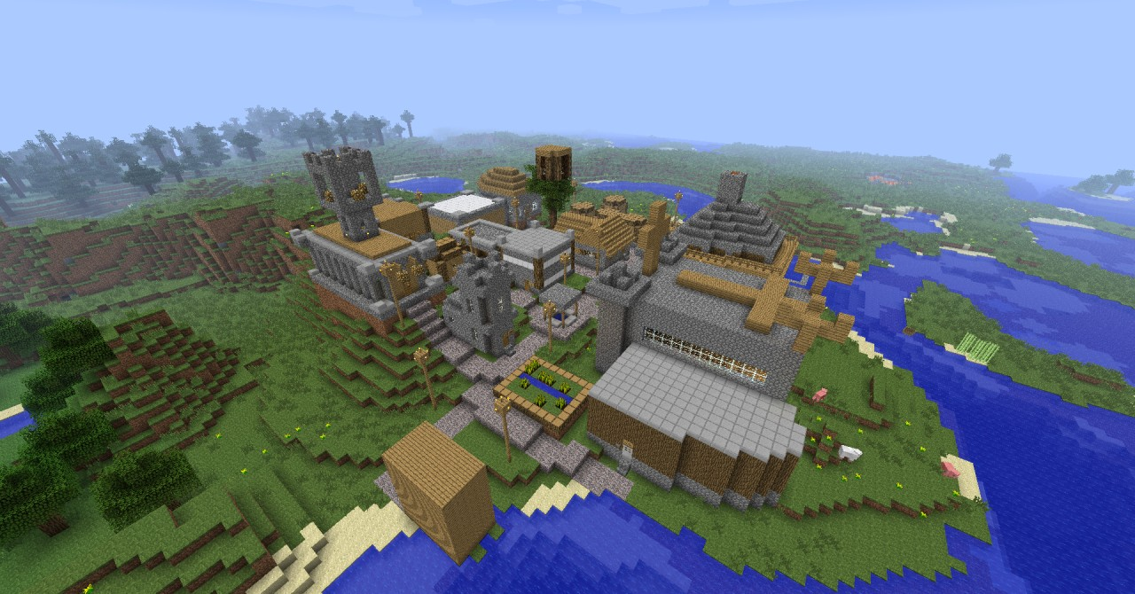 advanced npc village  minecraft project