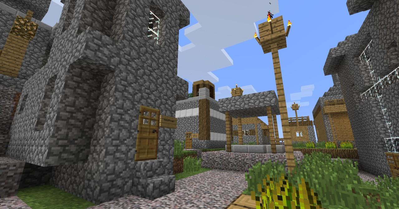 Advanced NPC village. Minecraft Project