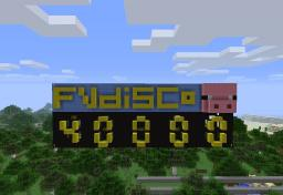 FVDisco 40,000 Subs Tribute Minecraft Map & Project