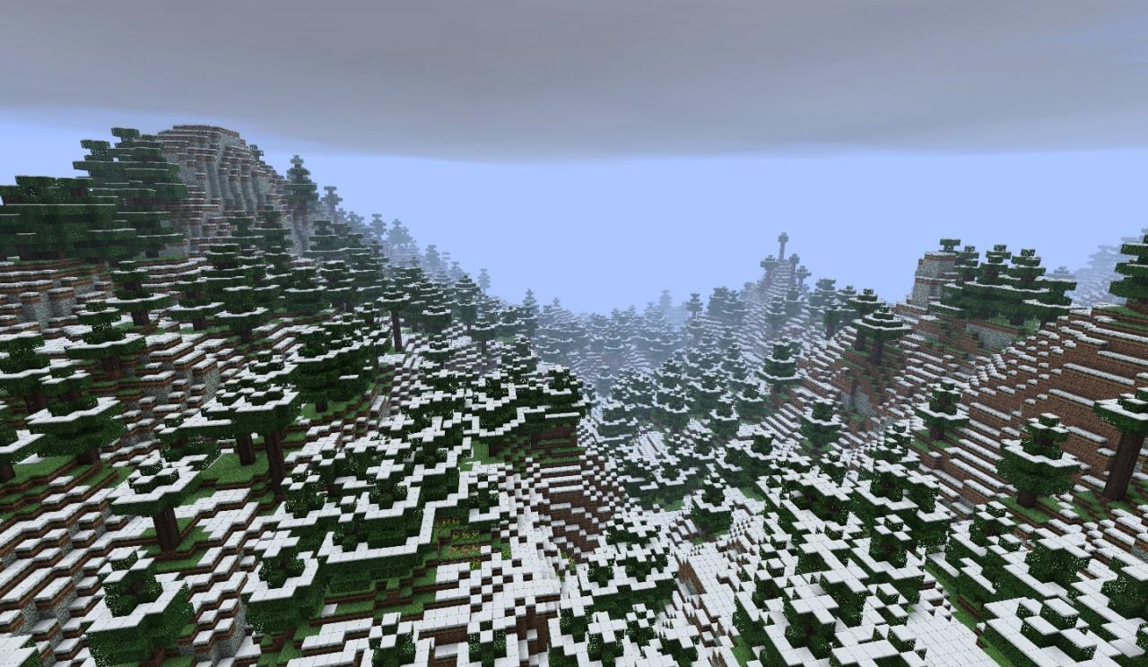 1 8 Snow Mountains Custom Terrain Minecraft Map
