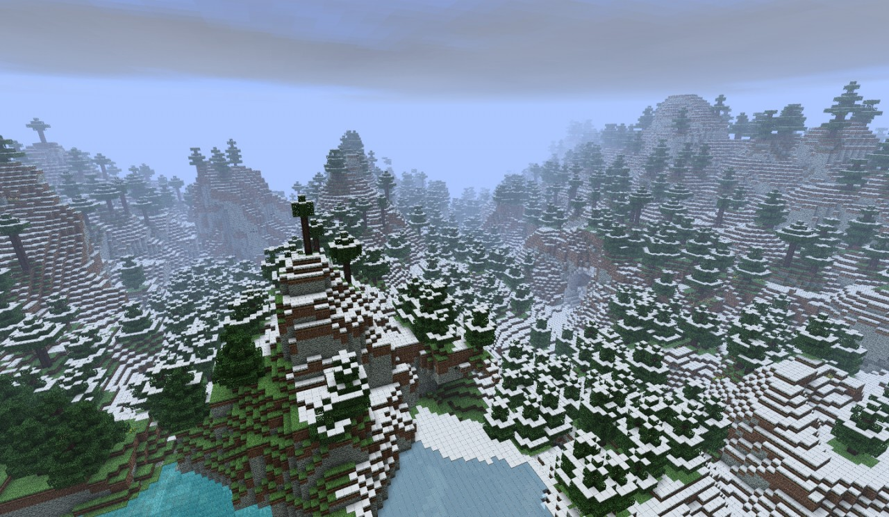18 Snow Mountains Custom Terrain Minecraft Project