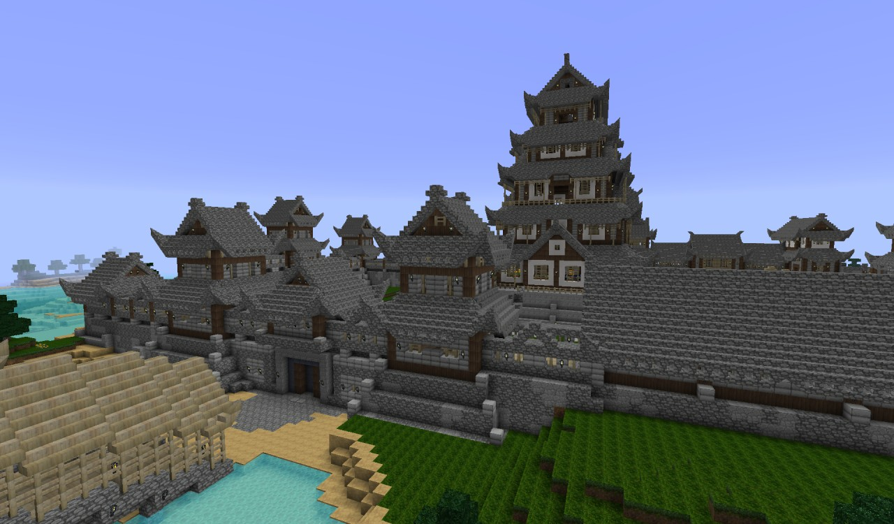 Japanese Castle Minecraft Project - Japan map minecraft