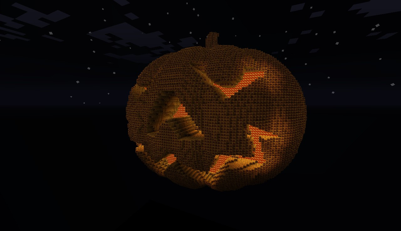 halloween pumpkin minecraft project