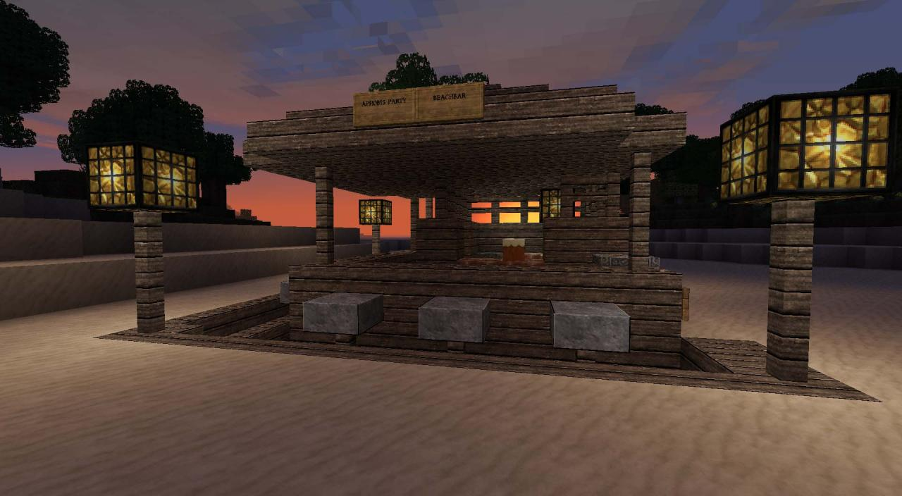 Beach Bar Minecraft Project