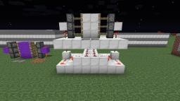 Very Compact Hidden Piston Doors Minecraft