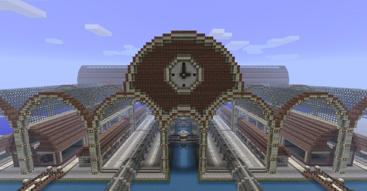 Medulon - Half steampunk city Minecraft Project