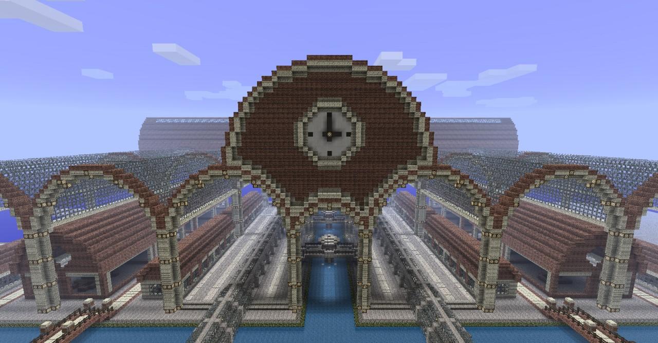 Medulon - Half steampunk city Minecraft Project