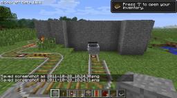 some secret mine cart door Minecraft Project