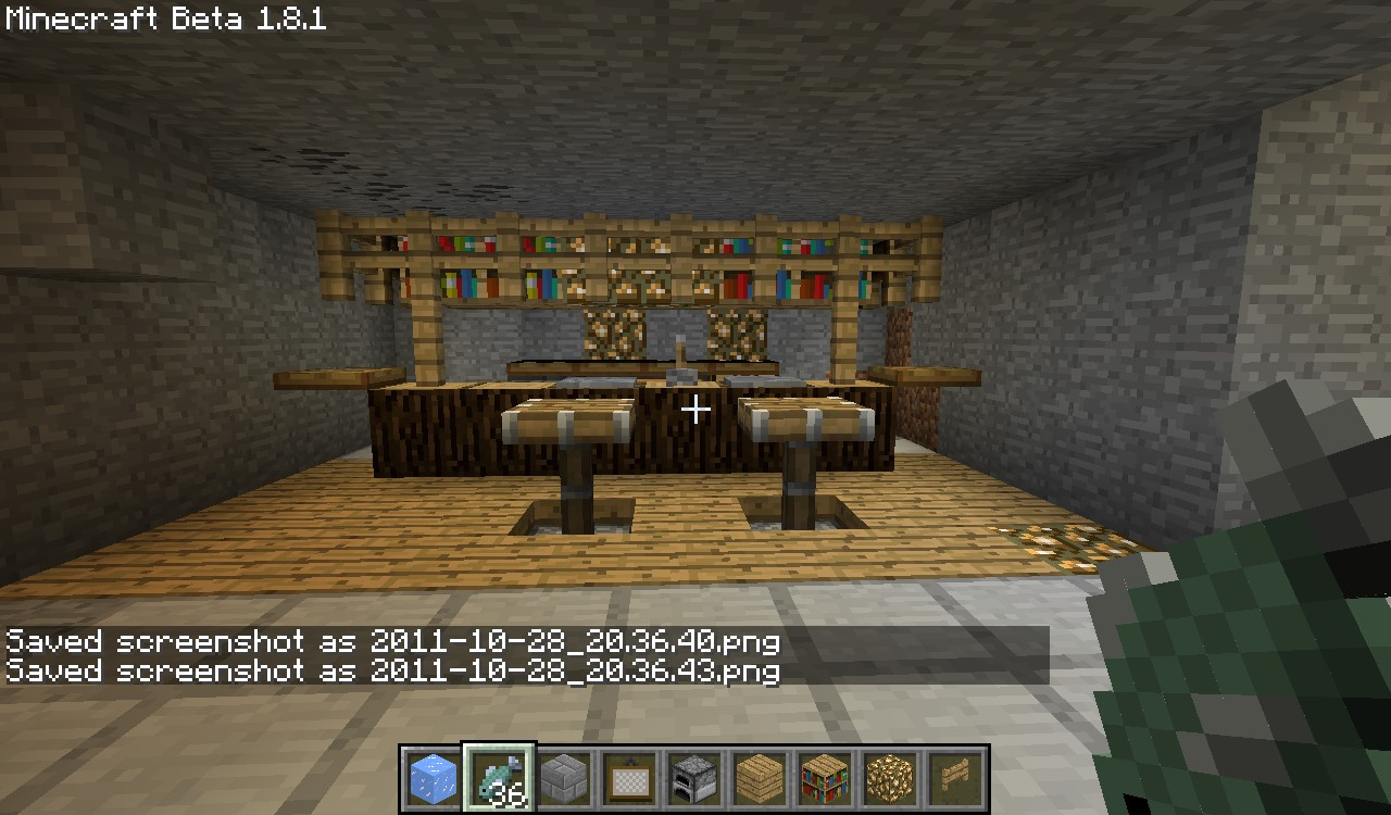 Mrblatcho And Me Minecraft Mansion on Stools Made From Logs