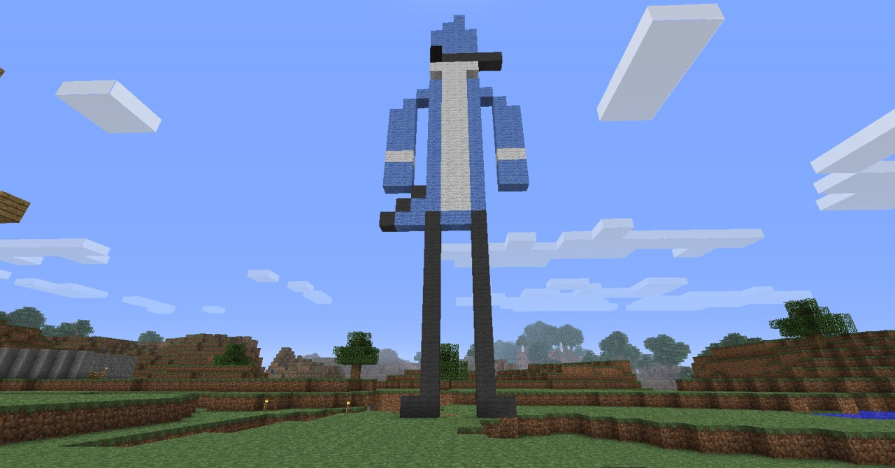 Mordecai from Regular Show Minecraft Project Minecraft Pixel Art Regular Show