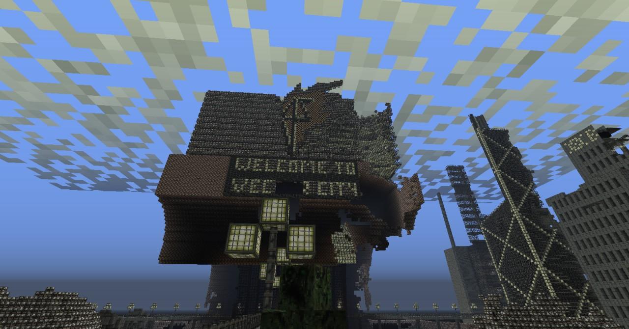 скачать карту для майнкрафт 1.7.2 город зомби апокалипсис