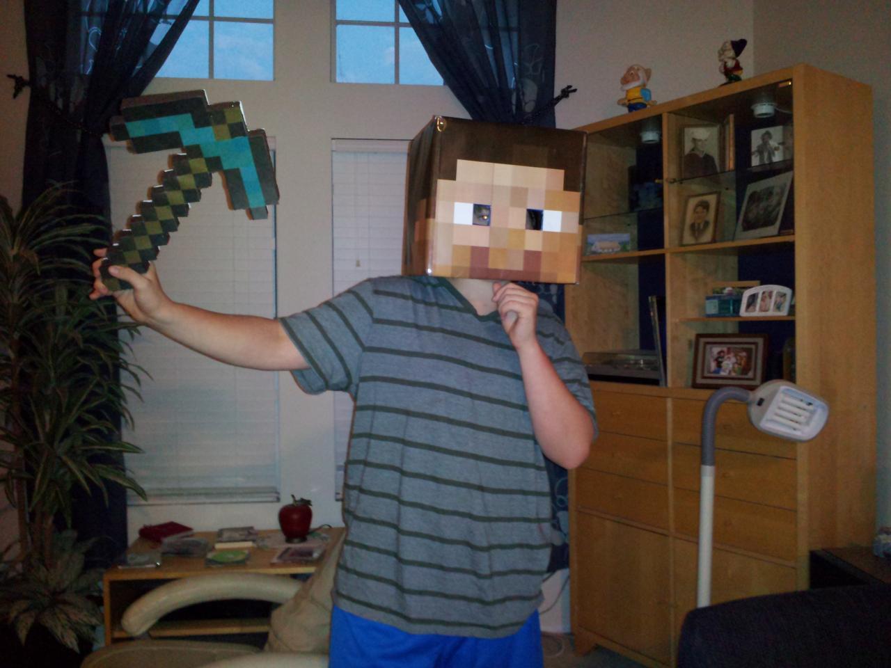 homemade halloween costume steve minecraft blog