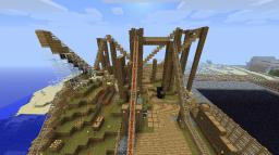 Realistic Wooden Rollercoaster Minecraft Map & Project