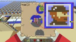 Full-Color Display using Maps Minecraft