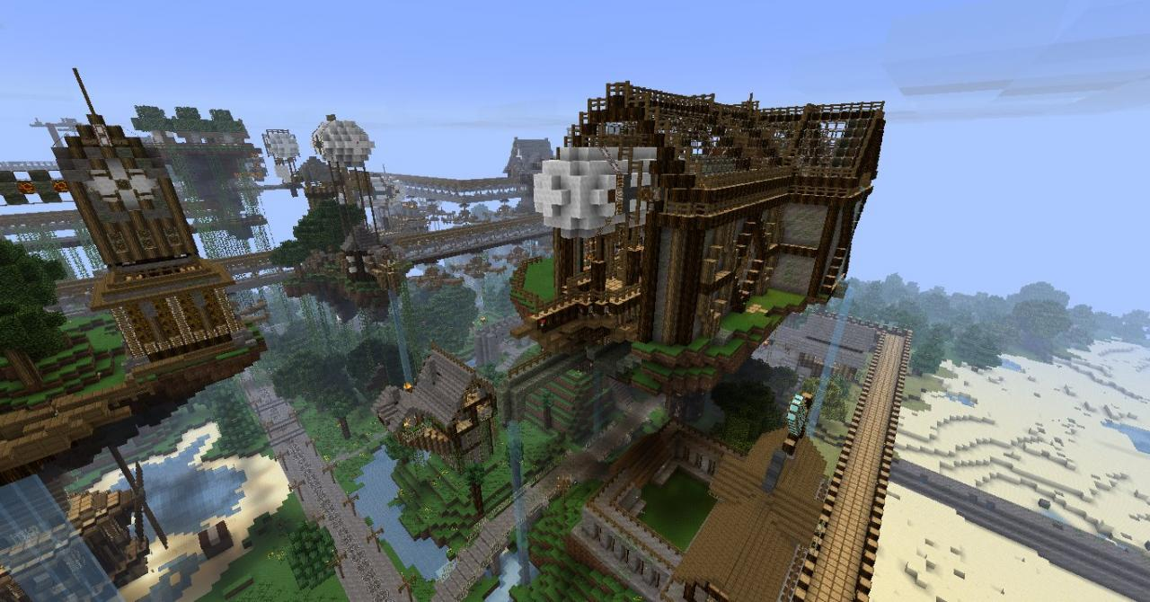 STEAMPUNK FACTORY finished! Minecraft Project
