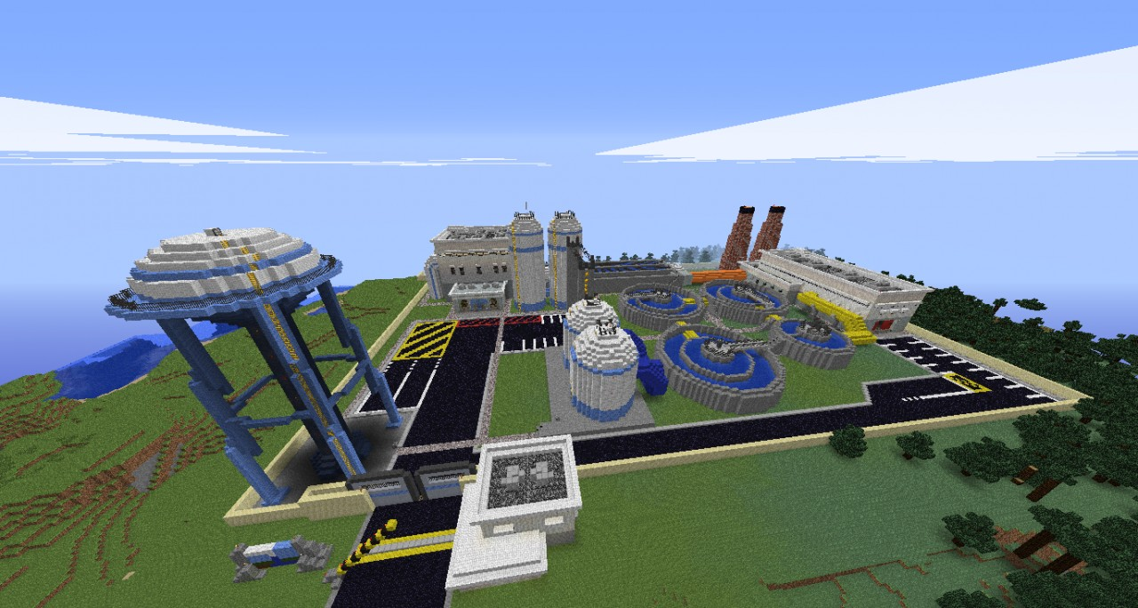 Water Treatment Plant Minecraft Project