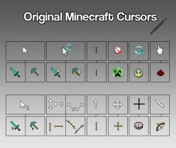 Cursors from Minecraft Minecraft