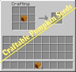 Craftable Pumpkin Seeds Minecraft Mod