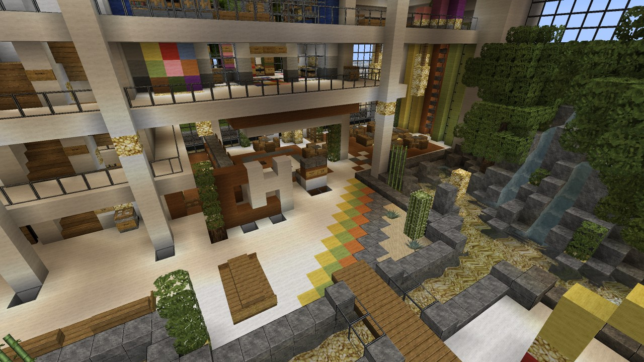 Mall shopping center beach town project minecraft project for Craft com online shopping