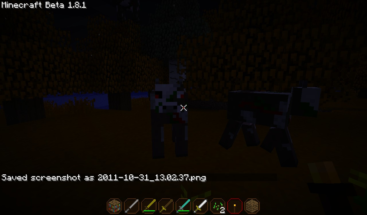 Mutant cows :P and also all of the swords in the inv