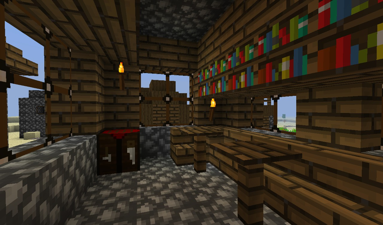 The inside of a house (old cobble)