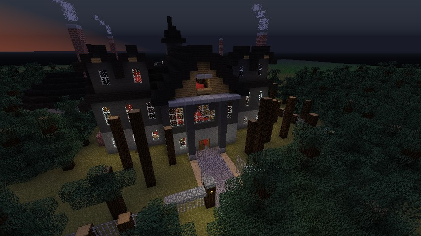 Spooky build idea guide brawl games minecraft server for Build a haunted house