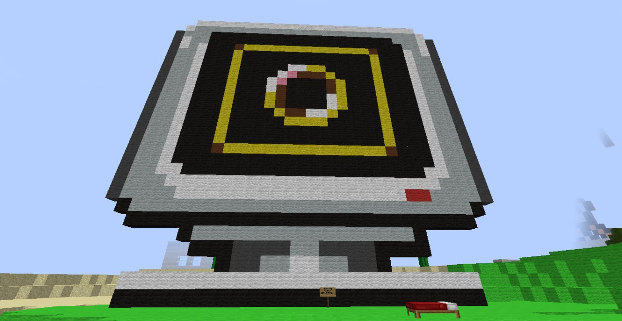 Sonic The Hegdehog Ring Monitor Pixel Art Minecraft Map
