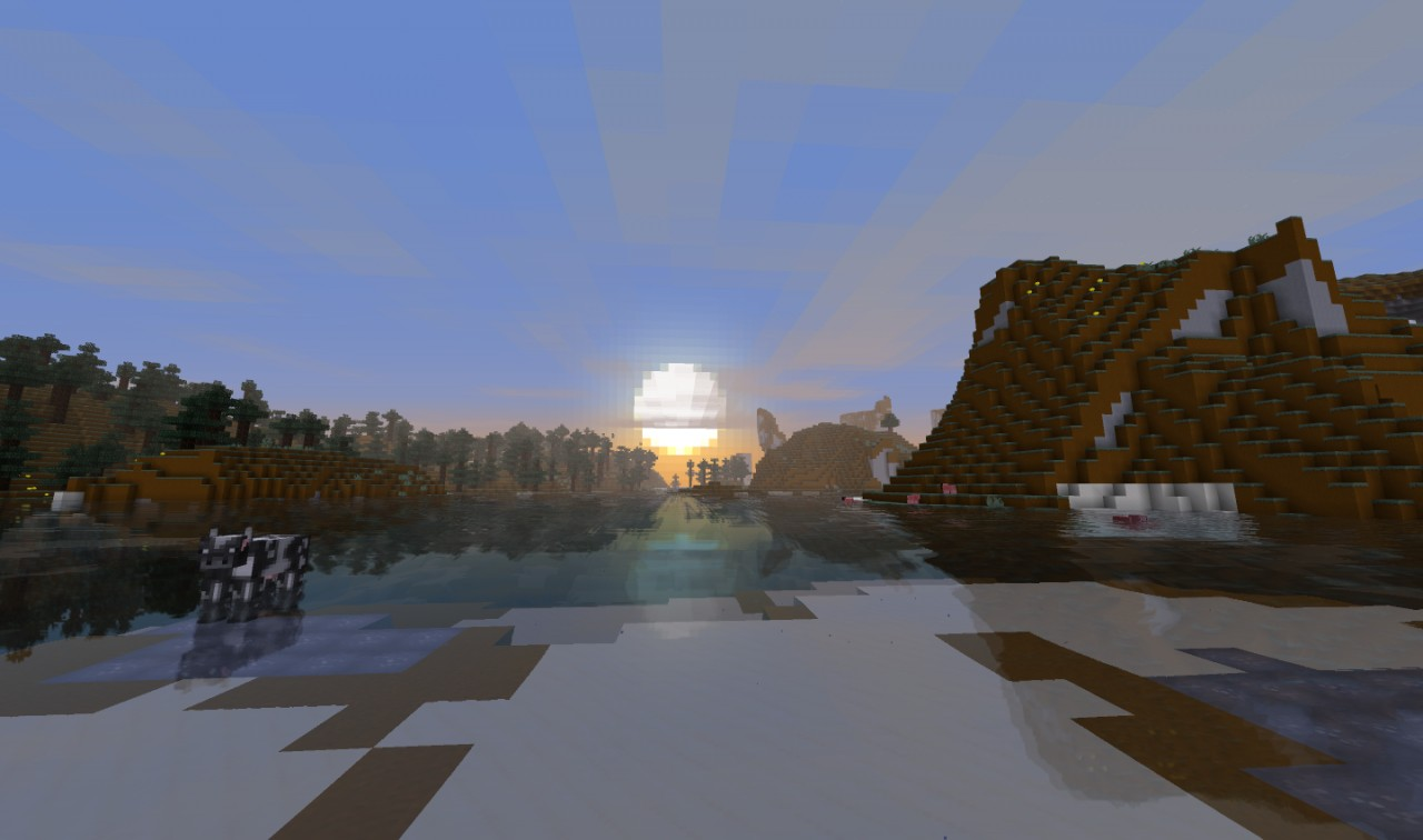 A sunset from Defscape 16x Version 1.6