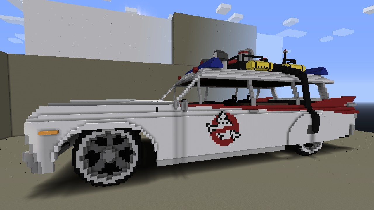 ecto 1 ghostbusters minecraft project. Black Bedroom Furniture Sets. Home Design Ideas