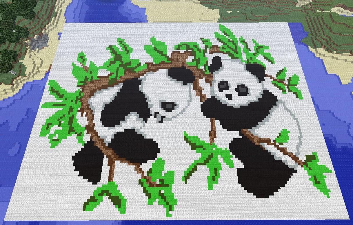 Panda Pixel Art Minecraft Project