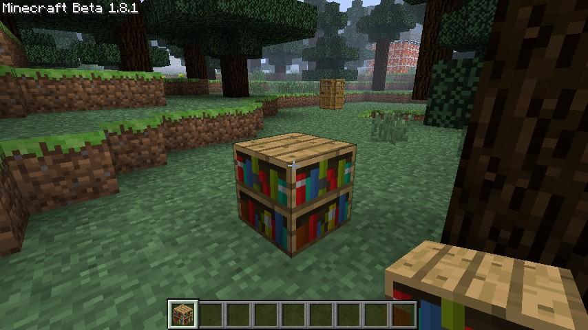 Exploding Bookshelves Minecraft Mod