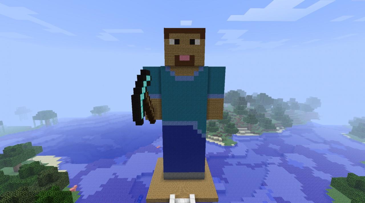 Zombie Head Minecraft Statue Minecraft statueZombie Head Minecraft Statue
