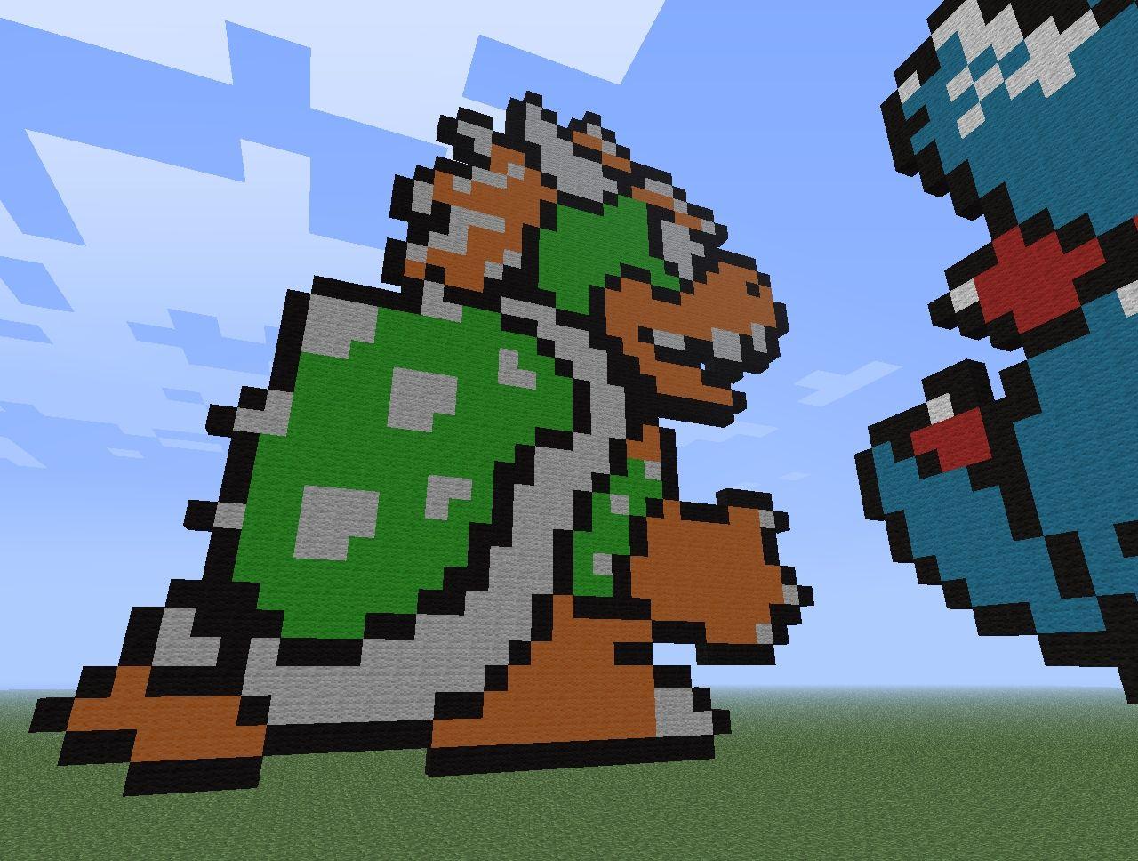 Pixel Art Minecraft Bowser