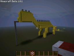 Golden dinosaur Minecraft Map & Project