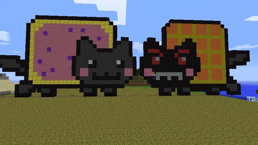 Nyan Cat Vs Tacnyan Fast Build Minecraft Map