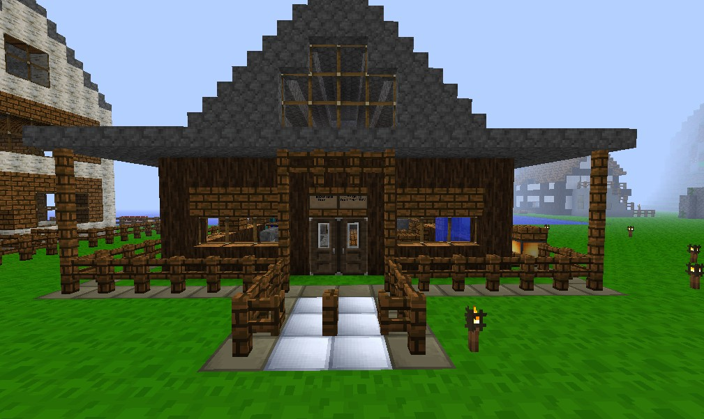 Wood House and Cobble Roof.