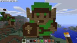 Original Link Sprite from The Legend of Zelda Minecraft Project