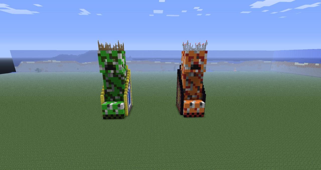 King Creeper Statue Minecraft Project