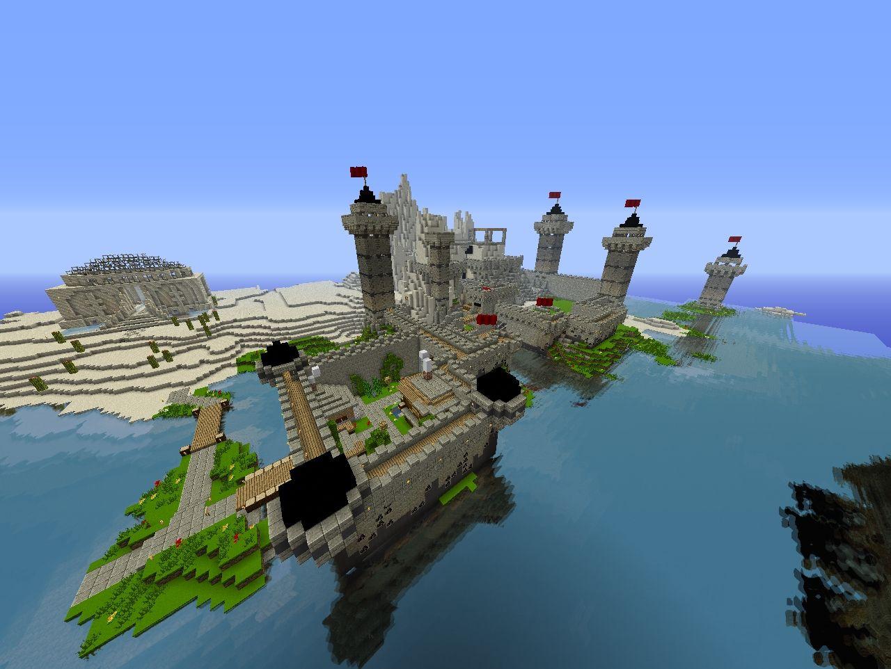 Pirate Castle World Save Schematics Minecraft Project