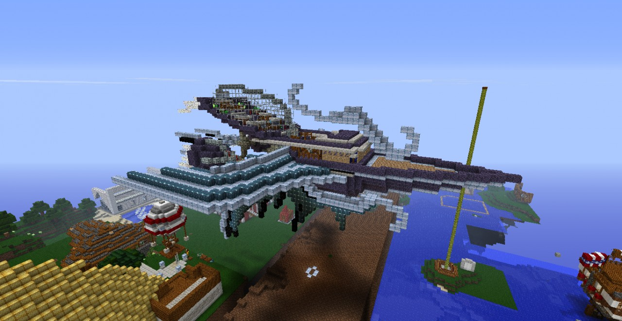 final fantasy inspired airship minecraft project
